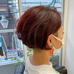 ショートヘア ストリート ショート カジュアル ヘアスタイルや髪型の写真・画像