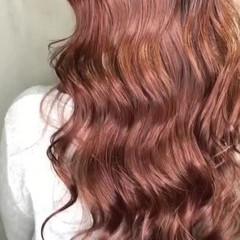 ロング ガーリー ピンク グラデーションカラー ヘアスタイルや髪型の写真・画像