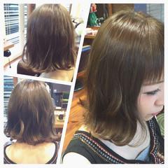 フェミニン ボブ アッシュ ガーリー ヘアスタイルや髪型の写真・画像