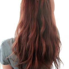 オレンジブラウン ハイライト ゆるふわ ガーリー ヘアスタイルや髪型の写真・画像