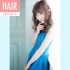 春 セミロング モテ髪 パンク ヘアスタイルや髪型の写真・画像