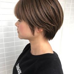 ショート ハンサムショート ショートヘア マッシュショート ヘアスタイルや髪型の写真・画像