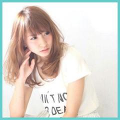 パーマ グレージュ セミロング ヘアアレンジ ヘアスタイルや髪型の写真・画像