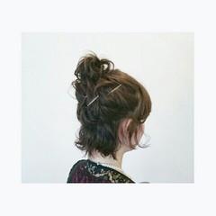 ショート ヘアアレンジ ボブ ヘアスタイルや髪型の写真・画像