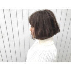 ストリート 暗髪 ショート ボブ ヘアスタイルや髪型の写真・画像