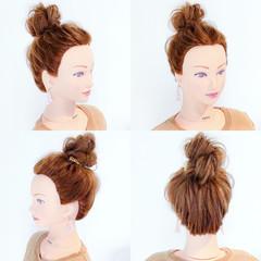 リラックス 涼しげ フェミニン 簡単ヘアアレンジ ヘアスタイルや髪型の写真・画像