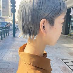 ショートボブ ナチュラル ショート インナーカラー ヘアスタイルや髪型の写真・画像