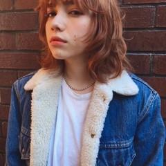 外国人風 ウルフカット ミディアム ストリート ヘアスタイルや髪型の写真・画像