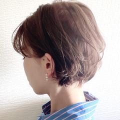 ショート ショートヘア ナチュラル 丸みショート ヘアスタイルや髪型の写真・画像