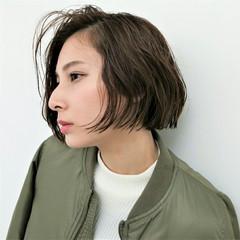 暗髪 ニュアンス アッシュ 外国人風 ヘアスタイルや髪型の写真・画像