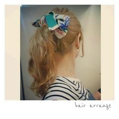 ヘアアレンジ ヘアアクセ ストリート ロング ヘアスタイルや髪型の写真・画像