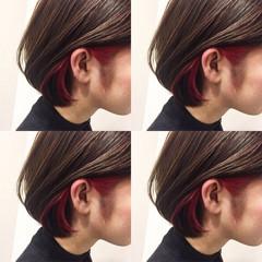 前髪あり ボブ ガーリー アッシュ ヘアスタイルや髪型の写真・画像