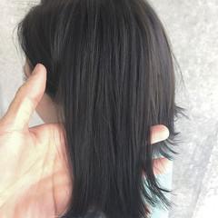 アッシュ 大人かわいい ストリート 暗髪 ヘアスタイルや髪型の写真・画像