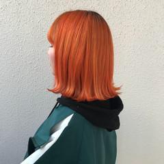カラーバター ハイトーン ブリーチ ボブ ヘアスタイルや髪型の写真・画像