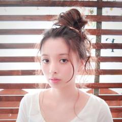 外国人風 大人かわいい ヘアアレンジ 夏 ヘアスタイルや髪型の写真・画像