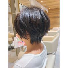ハンサムショート ナチュラル ショートヘア 小顔ショート ヘアスタイルや髪型の写真・画像