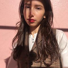 透明感 ゆるふわ エレガント ブラウンベージュ ヘアスタイルや髪型の写真・画像