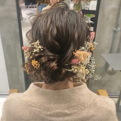 成人式 謝恩会 フェミニン セミロング ヘアスタイルや髪型の写真・画像