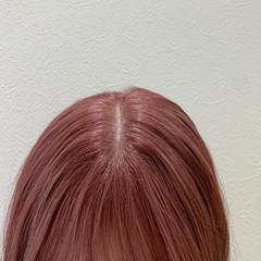 ピンク ラベンダーピンク ガーリー ピンクラベンダー ヘアスタイルや髪型の写真・画像