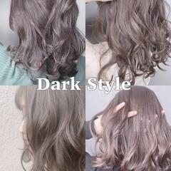 セミロング ショートボブ ナチュラル ウルフカット ヘアスタイルや髪型の写真・画像