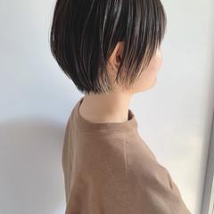 インナーカラー ショートヘア ハイライト ショートボブ ヘアスタイルや髪型の写真・画像