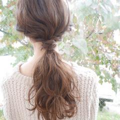 簡単ヘアアレンジ ヘアアレンジ ナチュラル ロング ヘアスタイルや髪型の写真・画像