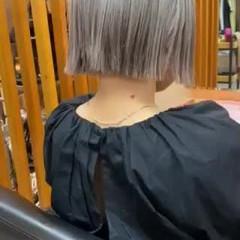 ミルクティーグレージュ グレージュ ボブ モード ヘアスタイルや髪型の写真・画像