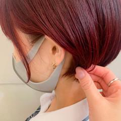 ショート ショートボブ デザインカラー ナチュラル ヘアスタイルや髪型の写真・画像