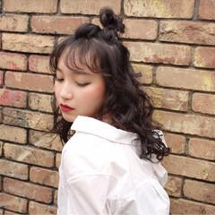 かわいい ガーリー カール ヘアアレンジ ヘアスタイルや髪型の写真・画像