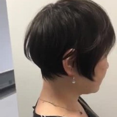 大人女子 ショートヘア ナチュラル ショートボブ ヘアスタイルや髪型の写真・画像