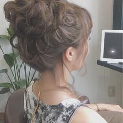 ナチュラル ヘアアレンジ お団子 ロング ヘアスタイルや髪型の写真・画像