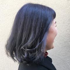 ラベンダーアッシュ ブリーチ ミディアム 春 ヘアスタイルや髪型の写真・画像