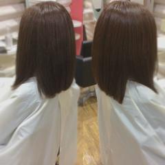艶髪 髪質改善 髪質改善カラー ナチュラル ヘアスタイルや髪型の写真・画像