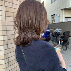 フェミニン ミディアム ニュアンスウルフ マッシュウルフ ヘアスタイルや髪型の写真・画像