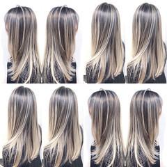 グラデーションカラー ナチュラル ユニコーンカラー ハイライト ヘアスタイルや髪型の写真・画像