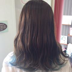 ガーリー セミロング グラデーションカラー ダブルカラー ヘアスタイルや髪型の写真・画像