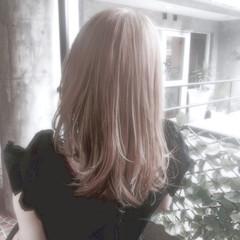 外国人風 モード ミルクティーベージュ 外国人風カラー ヘアスタイルや髪型の写真・画像