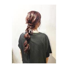 女子力 ヘアアレンジ 簡単ヘアアレンジ 透明感 ヘアスタイルや髪型の写真・画像