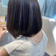 ブリーチカラー ナチュラル可愛い コントラストハイライト ボブ ヘアスタイルや髪型の写真・画像