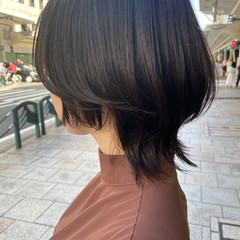 ナチュラル レイヤーカット ブラウンベージュ ウルフカット ヘアスタイルや髪型の写真・画像