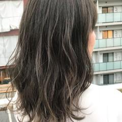 イルミナカラー ブルージュ 透明感 グレージュ ヘアスタイルや髪型の写真・画像