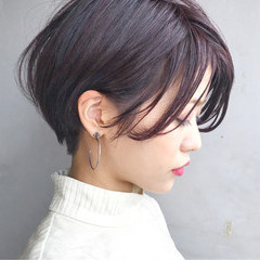 ショート ショートボブ ストリート 暗髪 ヘアスタイルや髪型の写真・画像