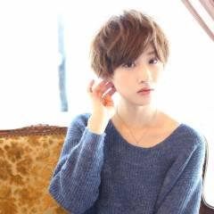 フェミニン ショート モテ髪 ストリート ヘアスタイルや髪型の写真・画像