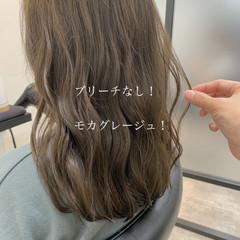 ヘアカラー ロング フェミニン グレージュ ヘアスタイルや髪型の写真・画像