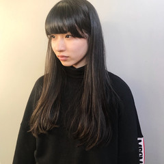 ストレート ワンレングス モード ワンカール ヘアスタイルや髪型の写真・画像