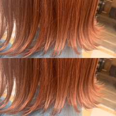 ダブルカラー ショートヘア ナチュラル ボブ ヘアスタイルや髪型の写真・画像