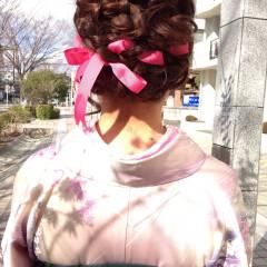 袴 コンサバ ロング ヘアアレンジ ヘアスタイルや髪型の写真・画像