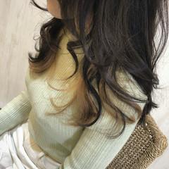 ガーリー 外国人風カラー セミロング インナーカラー ヘアスタイルや髪型の写真・画像