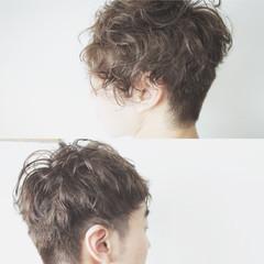 ボーイッシュ モテ髪 ナチュラル ショート ヘアスタイルや髪型の写真・画像