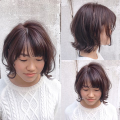 アッシュ ボブ ナチュラル ニュアンス ヘアスタイルや髪型の写真・画像